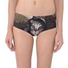 Cat Kitten Cute Pet Blanket Sweet Mid Waist Bikini Bottoms by Celenk
