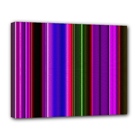 Abstract Background Pattern Textile 4 Canvas 14  X 11  by Celenk