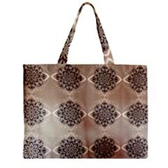 Flower Pattern Pattern Art Zipper Mini Tote Bag by Celenk