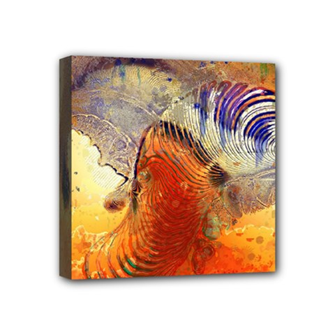 Dirty Dirt Image Spiral Wave Mini Canvas 4  X 4  by Celenk