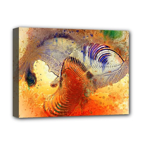 Dirty Dirt Image Spiral Wave Deluxe Canvas 16  X 12   by Celenk