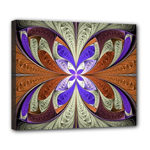 Fractal Splits Silver Gold Deluxe Canvas 24  X 20