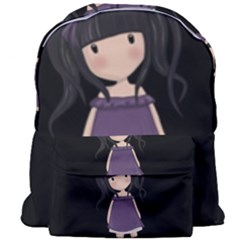 Dolly Girl In Purple Giant Full Print Backpack by Valentinaart