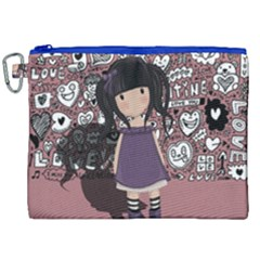 Dolly Girl In Purple Canvas Cosmetic Bag (xxl)