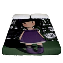 Dolly Girl In Purple Fitted Sheet (king Size) by Valentinaart