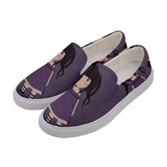 Dolly Girl In Purple Women s Canvas Slip Ons by Valentinaart