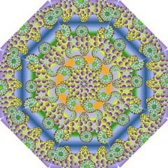Amoeba Flowers Hook Handle Umbrellas (medium) by CosmicEsoteric