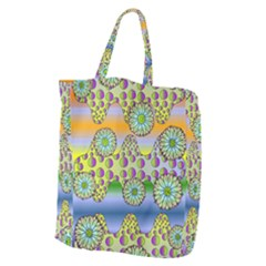 Amoeba Flowers Giant Grocery Zipper Tote by CosmicEsoteric