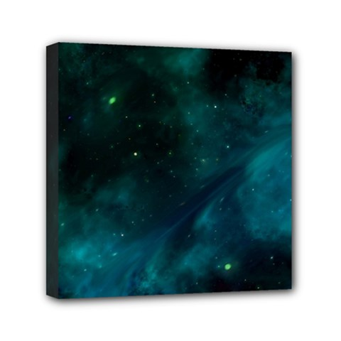 Green Space All Universe Cosmos Galaxy Canvas Travel Bag by Celenk
