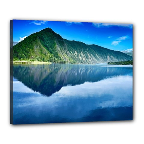 Mountain Water Landscape Nature Canvas 20  X 16  by Celenk