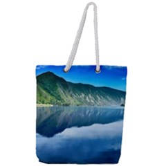 Mountain Water Landscape Nature Full Print Rope Handle Tote (large)
