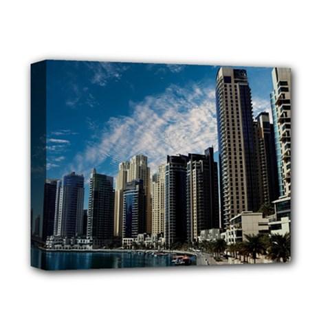Skyscraper City Architecture Urban Deluxe Canvas 14  X 11  by Celenk