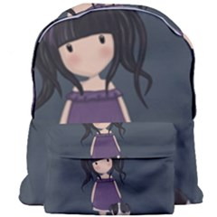 Dolly Girl And Dog Giant Full Print Backpack by Valentinaart