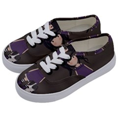 Dolly Girl And Dog Kids  Classic Low Top Sneakers by Valentinaart