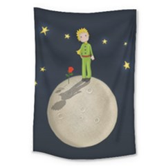 The Little Prince Large Tapestry by Valentinaart