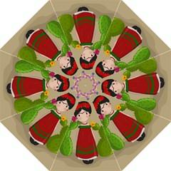 Frida Kahlo Doll Folding Umbrellas by Valentinaart