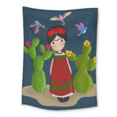 Frida Kahlo Doll Medium Tapestry by Valentinaart