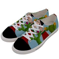 Frida Kahlo Doll Women s Low Top Canvas Sneakers by Valentinaart
