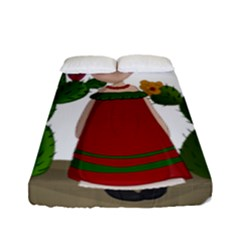 Frida Kahlo Doll Fitted Sheet (full/ Double Size) by Valentinaart