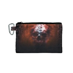 Skull Horror Halloween Death Dead Canvas Cosmetic Bag (small) by Celenk