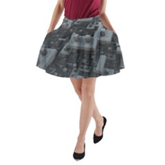 Backdrop Construction Pattern A Line Pocket Skirt by Celenk