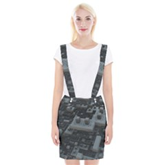 Backdrop Construction Pattern Braces Suspender Skirt by Celenk