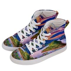 Landscape River Nature Water Sky Men s Hi Top Skate Sneakers by Celenk