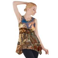 Canyon Dramatic Landscape Sky Side Drop Tank Tunic by Celenk