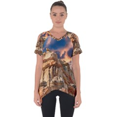 Canyon Dramatic Landscape Sky Cut Out Side Drop Tee by Celenk