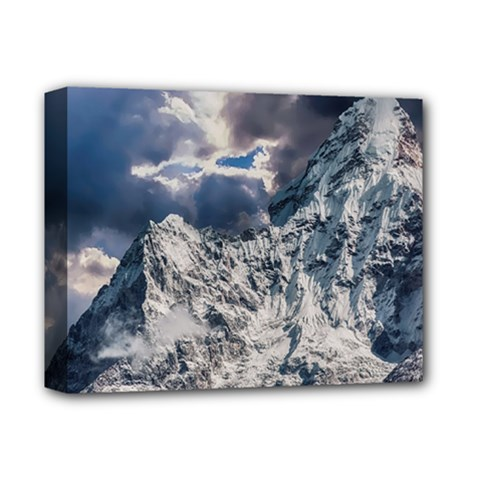 Mountain Snow Winter Landscape Deluxe Canvas 14  X 11  by Celenk