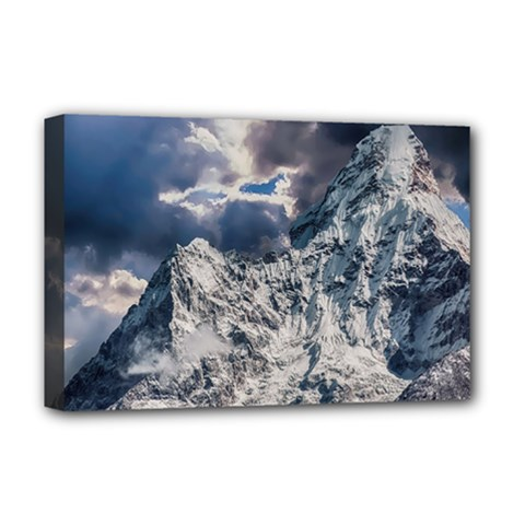 Mountain Snow Winter Landscape Deluxe Canvas 18  X 12   by Celenk