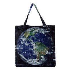 Earth Internet Globalisation Grocery Tote Bag by Celenk