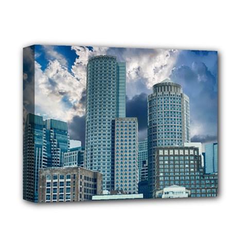 Tower Blocks Skyscraper City Modern Deluxe Canvas 14  X 11  by Celenk