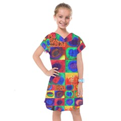 Water Color Eggs Kids  Drop Waist Dress