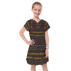 Hot As Candles And Fireworks In Warm Flames Kids  Drop Waist Dress