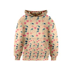 Heart Cherries Cream Kids  Pullover Hoodie by snowwhitegirl
