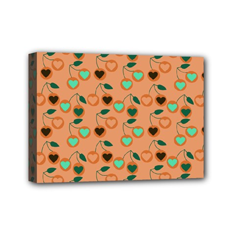 Peach Cherries Mini Canvas 7  X 5  by snowwhitegirl