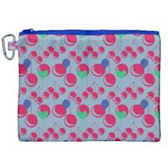 Bubblegum Cherry Blue Canvas Cosmetic Bag (xxl) by snowwhitegirl