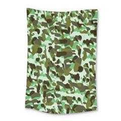 Brownish Green Camo Small Tapestry by snowwhitegirl