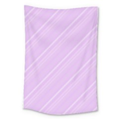 Lilac Diagonal Lines Large Tapestry by snowwhitegirl