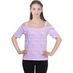 Silly Stripes Lilac Cutout Shoulder Tee by snowwhitegirl