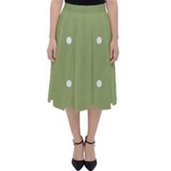 Olive Dots Folding Skater Skirt by snowwhitegirl