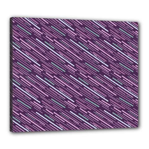 Silly Stripes Canvas 24  X 20  by snowwhitegirl