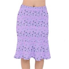 Heart Drops Violet Mermaid Skirt