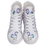 Purple unicorn shoes - Women s Hi-Top Skate Sneakers