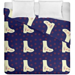 Navy Boots Duvet Cover Double Side (king Size) by snowwhitegirl