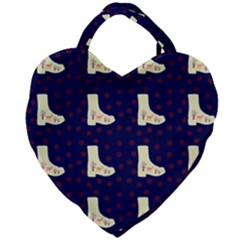 Navy Boots Giant Heart Shaped Tote by snowwhitegirl