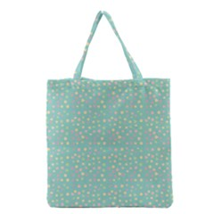 Light Teal Hearts Grocery Tote Bag by snowwhitegirl