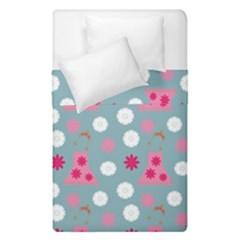 Pink Dress Blue Duvet Cover Double Side (single Size) by snowwhitegirl