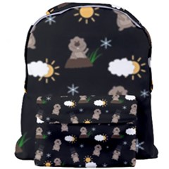 Groundhog Day Pattern Giant Full Print Backpack by Valentinaart